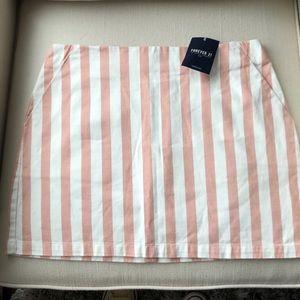 Forever 21 Pink and white cotton mini skirt